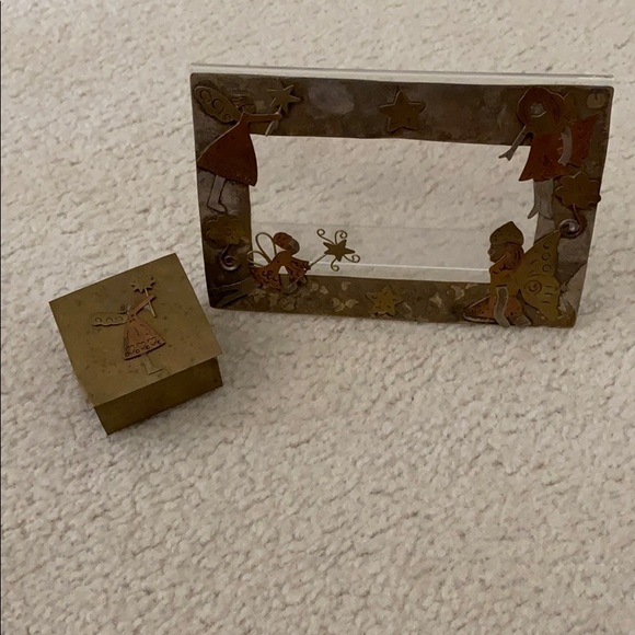 Other - Metal Angel Frame and Box